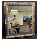 Hand Carved Gold Painted Accent Wall Mirror