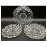 Vintage Group of Clear Glass Serving Dishes