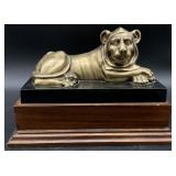 Brass Panther Statue on Stand