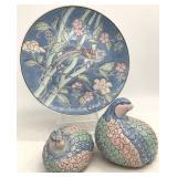 3pc Decorative Asian Porcelain