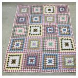 Vintage Diamond Pattern Quilt 64X84