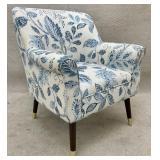 Blue and White Modern Club Chair