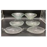 6pc Vintage Fostoria American Pattern Glass