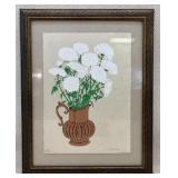 Judith Shahn S/N Floral Art in Large Frame