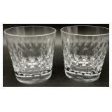 Pair Baccarat Crystal Armagnac Pattern Highball