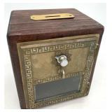 Antique Wooden Locking U.S. Mail Post Office Box