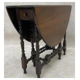 Walnut Drop Leaf Gate Leg Table