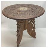 Moroccan Style Ornately Carved Accent Table