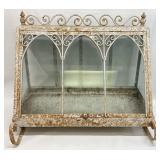 Antique Metal/Glass Terrarium