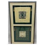 Framed Asian Textile