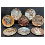 8pc Norman Rockwell Collectible Plate Set