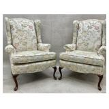 Pair of Quality Clean Queen Anne Wingbacks