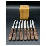 8pc Continental Gourmet Knife Set in Block