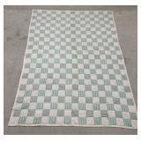 Vintage Hand Sewn Squares Quilt