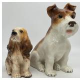 Vintage Pottery Dog Planter & Statue