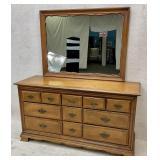 Sumter Cabinet Maple Dresser with Mirror