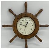 Vintage Seiko Ships Wheel Quartz Clock