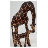 Carved Wood Giraffe Figurine