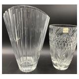 Pair of Elegant Crystal Vases