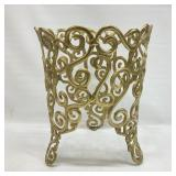 Ornate Brass Scrollwork Plant Stand(?)