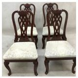 Set of 4 Chippendale Dining Chairs