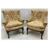 Antique Button Tufted Parlor Chair