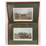 Pair of Fox Hunting Engravings / Prints