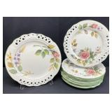 Tiffany Brunelli Hand Painted Reticulated Plates