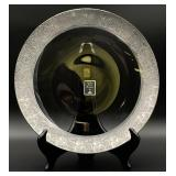 Forest Sterling Silver Rimmed Glass Charger