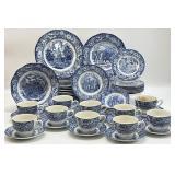 46PC Blue & White Liberty Blue China Set