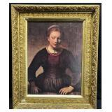 Antique Portrait in Gilded Frame