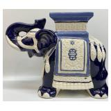 Blue and White Elephant Plant Stand