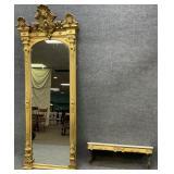 Antique Gold Gilt Pier Mirror