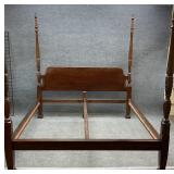 King Size Rice Carved Mahogany Bed
