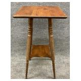 Antique Walnut Two Tier Table