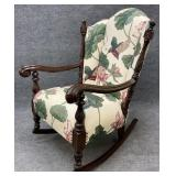 Ornately Carved Antique Rocking Chair