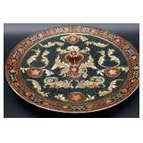 Asian Moriage Style Painted Porcelain Charger
