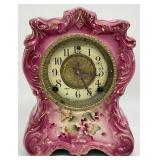 "WM. L. Gilbert ""No. 414"" Porcelain Mantel Clock"