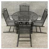 42in Wrought Iron Table and Chairs