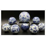 Blue and White Decorative Porcelain Balls