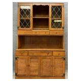 Ethan Allen Maple China Cabinet