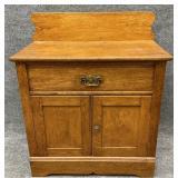 Antique Oak Two Door Wash Stand