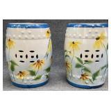 Floral Ceramic Garden Stool