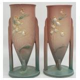 Pair Roseville Pottery Vases
