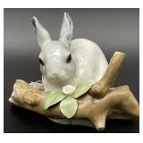 Lladro #4773 Gray Bunny Rabbit Figurine