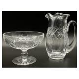 2pc Waterford Crystal Pitcher & Compote
