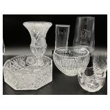 Crystal & Glass Vase Grouping
