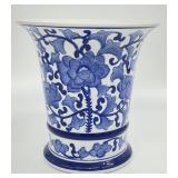 Blue and White Porcelain Urn Vase