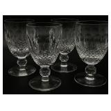 4pc Waterford Crystal Goblets