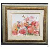 Abstract Floral Framed Art Print